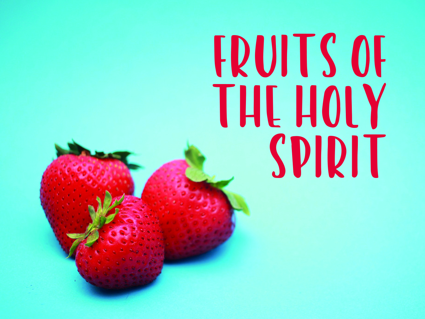 "Neues Gospelprojekt:  ""Fruits of the Holy Spirit"""